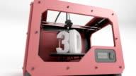 3d Printer Red ani close video
