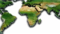 3d World map zoom to Africa video