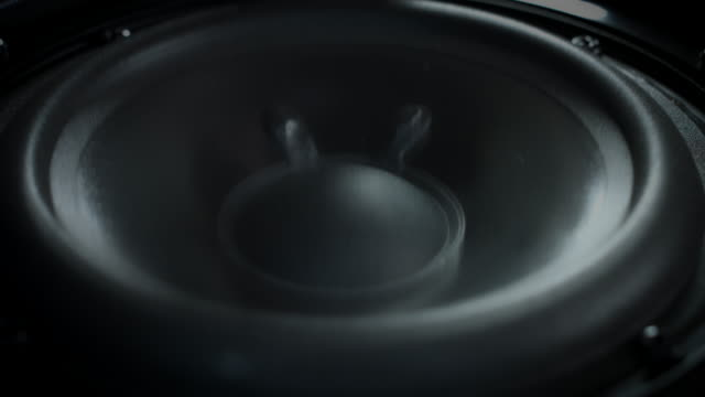 4k Abstract Background of Subwoofer Moving Fast video