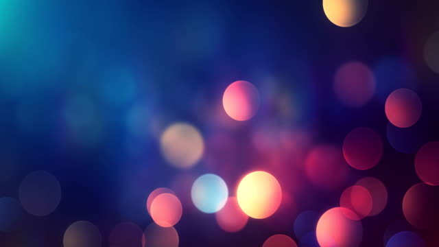 4k Abstract Bokeh Background Loop (Multi Colored) video