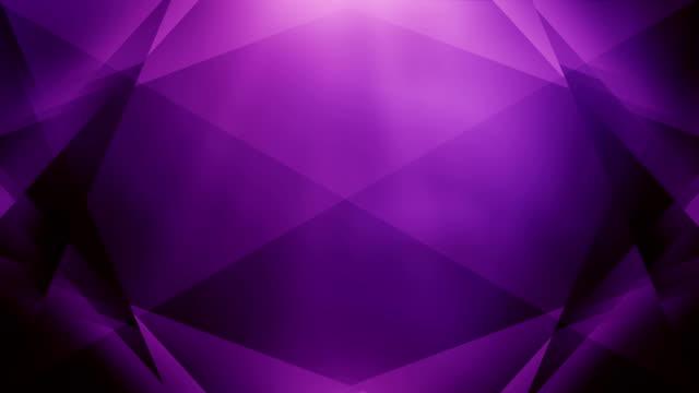 4k Abstract Geometry Background Loop (Purple) video