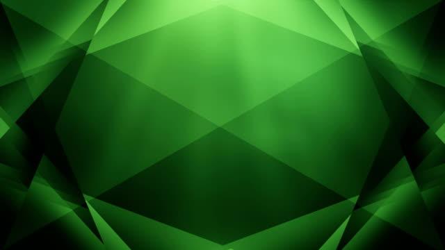 4k Abstract Geometry Background Loop (Green) video