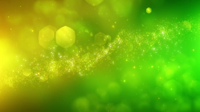 4k Abstract Particles (Yellow, Green) - Background Animation - Loopable video