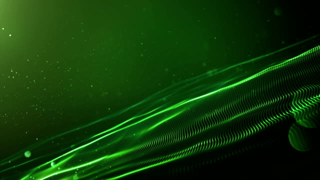 4k Abstract Wave Background Loop (Green) video