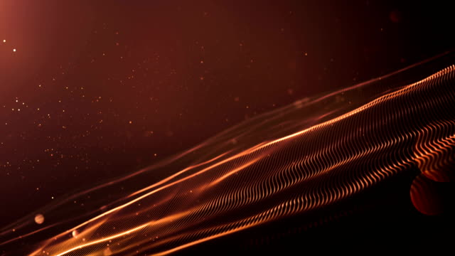 4k Abstract Wave Background Loop (Bronze / Brown) video