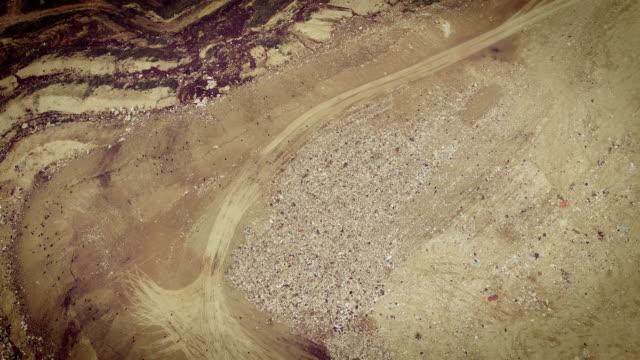 4k Aerial View of Rubbish Dump in Chisinau video