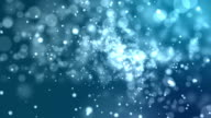 4k Blue Abstract of Bright and sparkling bokeh background video