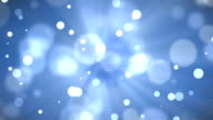 4k blue bokeh abstract light background video
