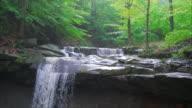 4k Blue Hen Falls in Cuyahoga Valley National Park video