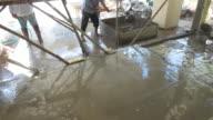 4k, construction house cement flooring video