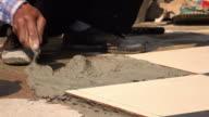 4k, construction worker flooring video