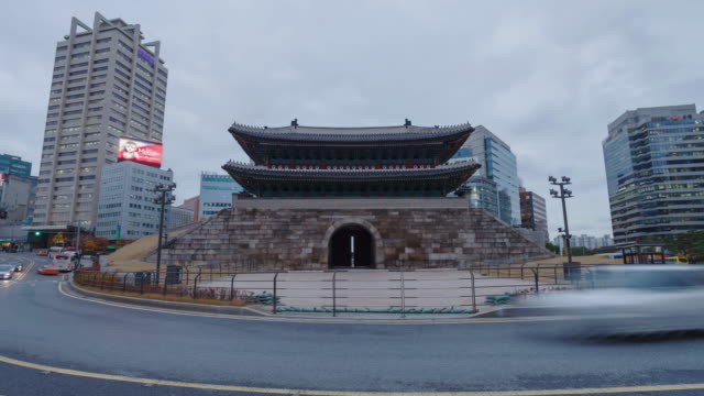4k day to night Timelapse Heunginjimun gate,seoul korea video