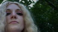 4k Fantasy Shot of a Fairy Looking at camera, close-up video
