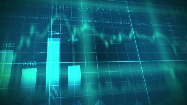 4k Financial Data Animation. video