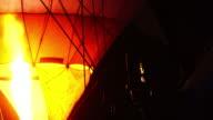 4k, fire burning energy of hot air balloon video