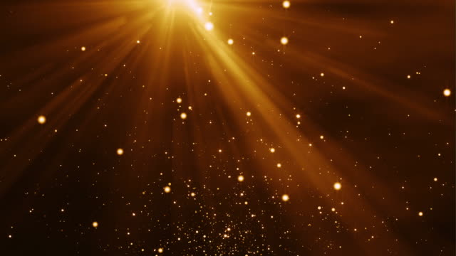 4k Gold Particles Light Stream Animation Background Seamless Loop. video