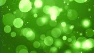4k Green Bokeh Animation Background Seamless Loop. video