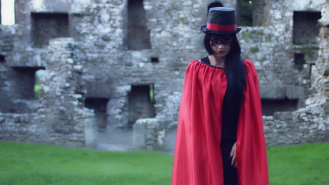 4k Halloween Shot of a Magician Gesturing with Hands, Abracadabra video