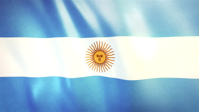 4k Highly Detailed Flag Of Argentina - Loopable video