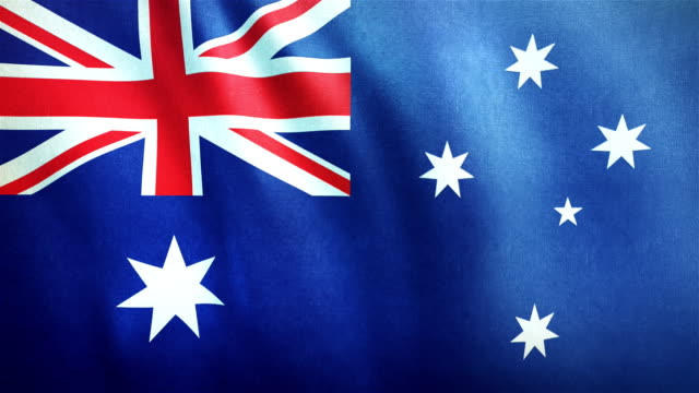 4k Highly Detailed Flag Of Australia - Loopable video
