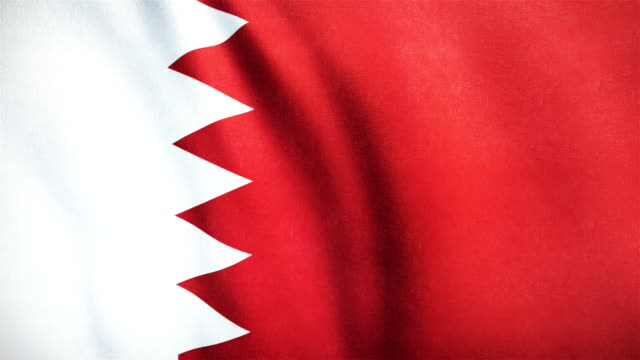 4k Highly Detailed Flag Of Bahrain - Loopable video