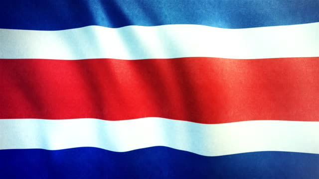 4k Highly Detailed Flag Of Costa Rica - Loopable video