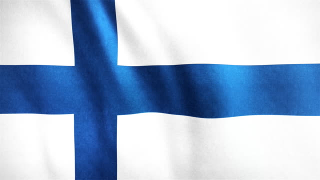 4k Highly Detailed Flag Of Finland - Loopable video