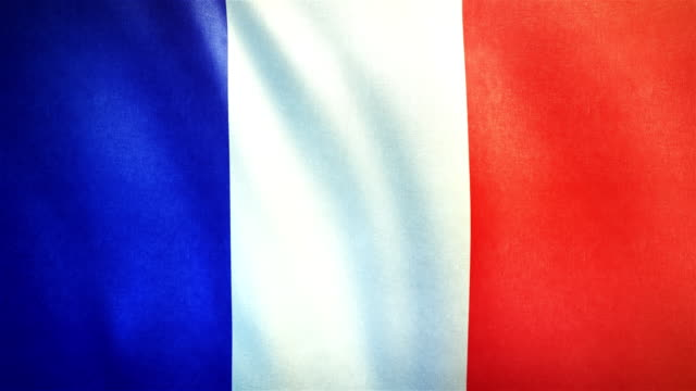 4k Highly Detailed Flag Of France - Loopable video