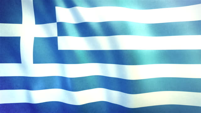 4k Highly Detailed Flag Of Greece - Loopable video