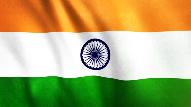 4k Highly Detailed Flag Of India - Loopable video