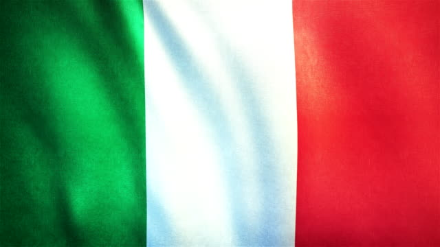 4k Highly Detailed Flag Of Italy - Loopable video