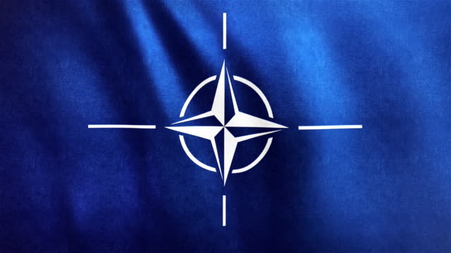 4k Highly Detailed Flag Of NATO - Loopable video