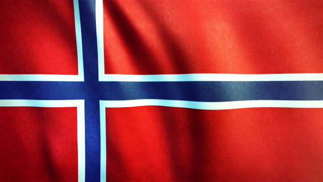 4k Highly Detailed Flag Of Norway - Loopable video