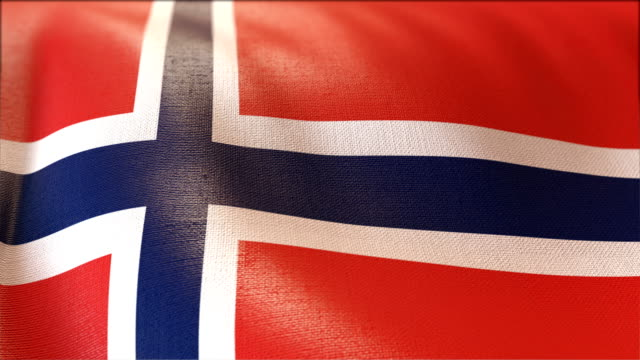 4k Highly Detailed Flag Of Norway video