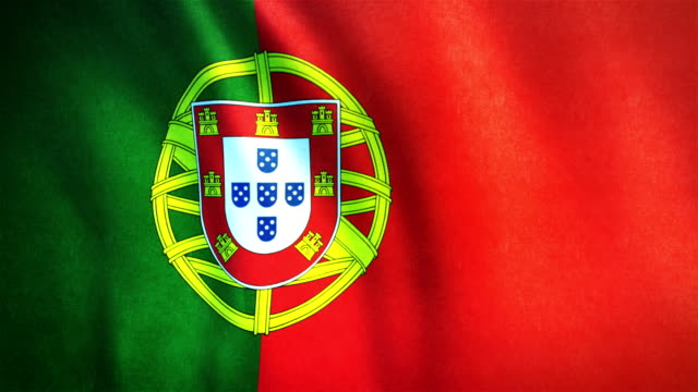 4k Highly Detailed Flag Of Portugal - Loopable video