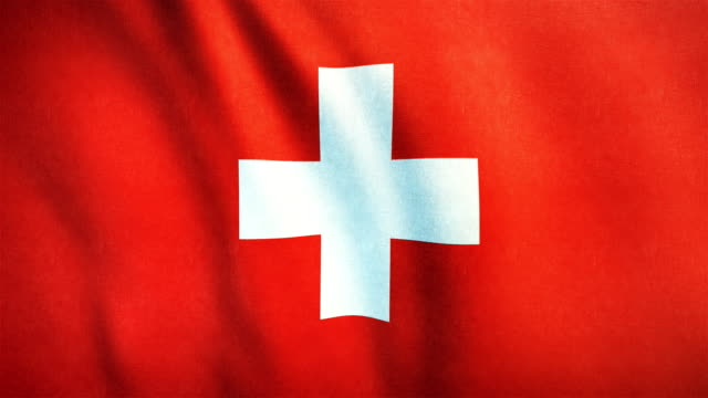 4k Highly Detailed Flag Of Switzerland - Loopable video