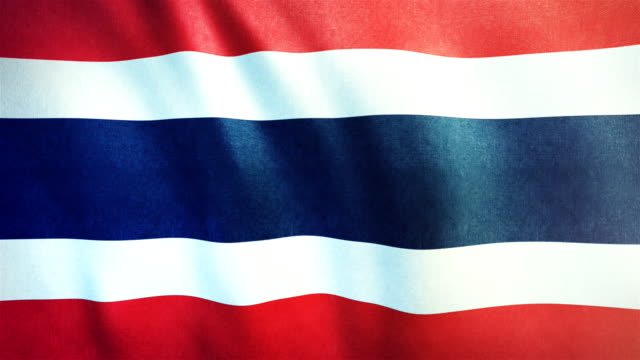 4k Highly Detailed Flag Of Thailand - Loopable video