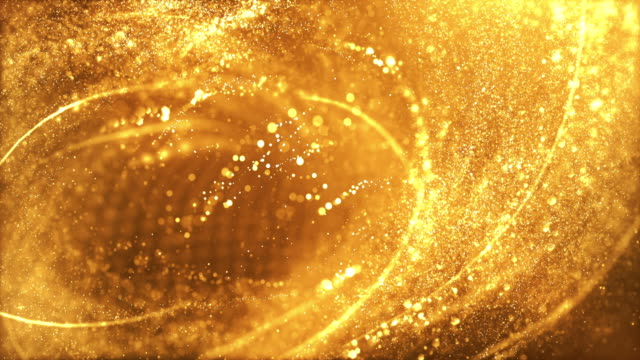 4k Highly Detailed Particle Stream - Loop (Gold) video