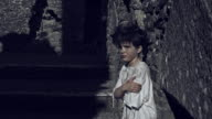 4k Horror Shot of an Abandoned Child Shaking Dramatic video