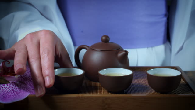 4k Japanese Tea Ceremony, Serving a Cup video
