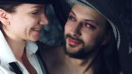 4k LGBT Shot of Transvestite Couple Smiling Happy video