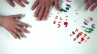 4k LGBT Symbol Composition of Human Hand Painting Rainbow video