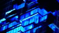 4k Light Show On Building video