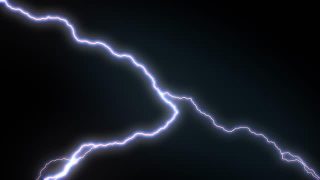 4k Lighting Strike Packs Animation, Blue Color. video