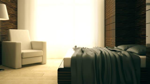 4k. Loft and modern bedroom. video