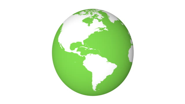 4k Loopable Green Earth Animation video