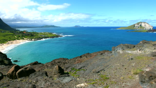 4k Makapuu Lookout Oahu, Hawaii. video