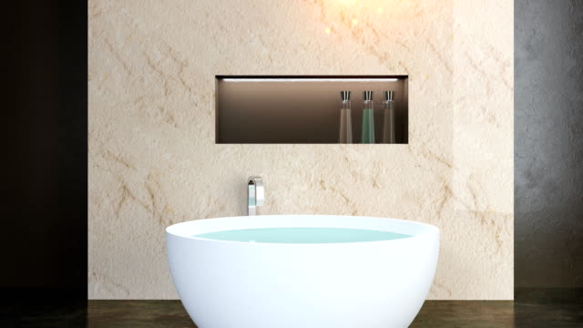 4k. modern bathroom video