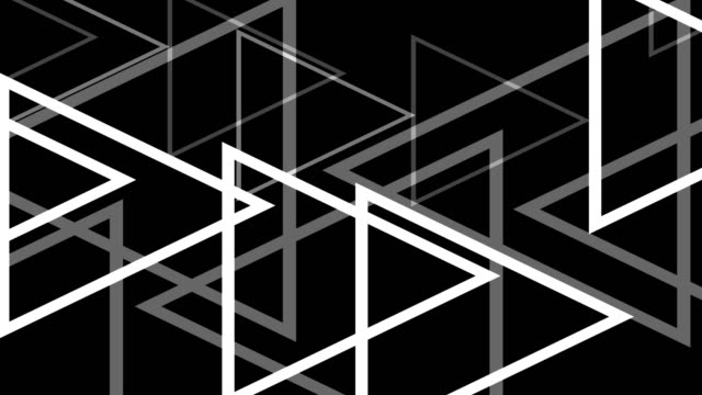 4k Modern White Triangles Abstract Background On Black video