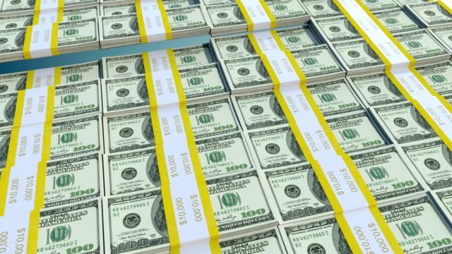 4k one hundred Dollar Bill Bars Wave Animation video